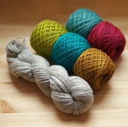 """Colourwork kits paired with """"natural."""""""
